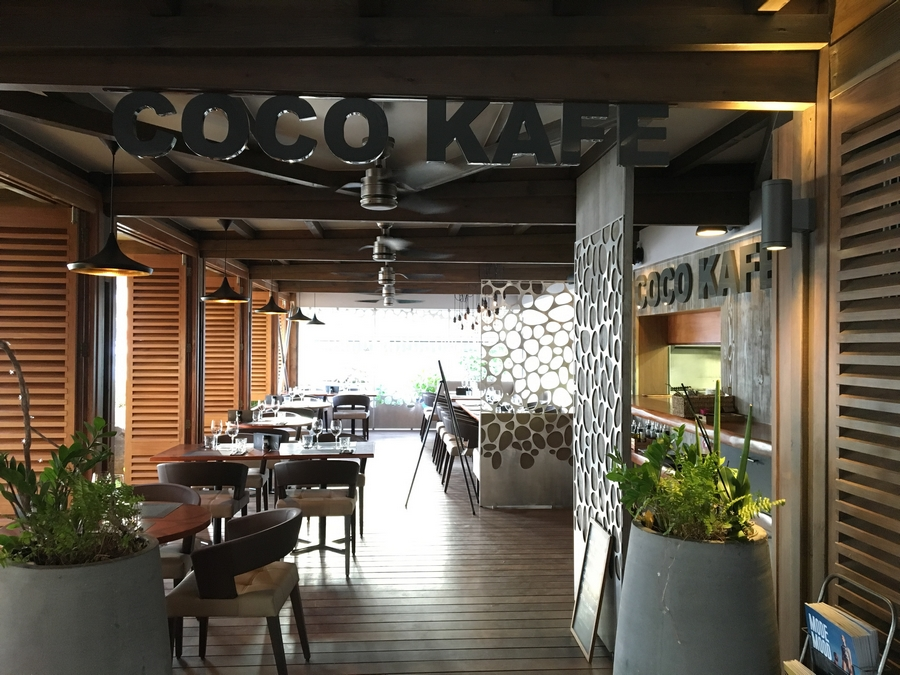 The Coco Kafe Restaurant Wooden Printed Tables  - 1