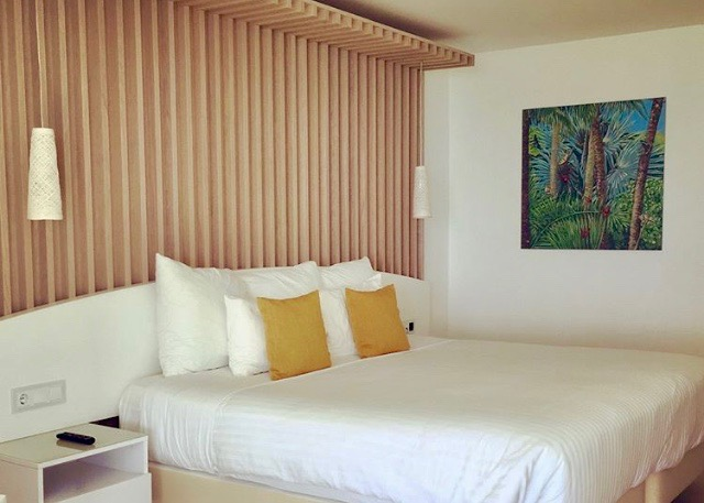 Wall decor of luxury rooms at La Creole Beach Hotel & Spa, Guadeloupe FWI - IMG_1891